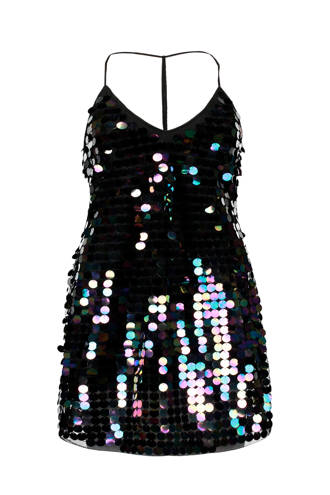 pailletten jurk zwart