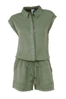 playsuit van viscose tencel met vintage-look