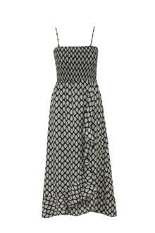 jurk met smok-top en all-over print