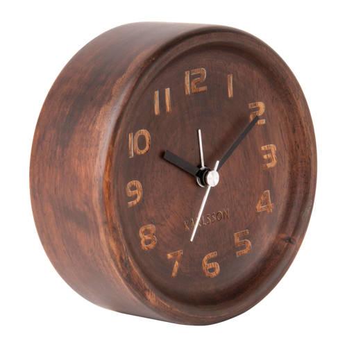 Karlsson Klokken alarmklok Wood Round (Ø11 cm) kopen