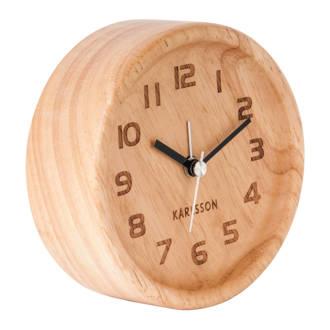 Klokken alarmklok Wood Round (Ø11 cm)