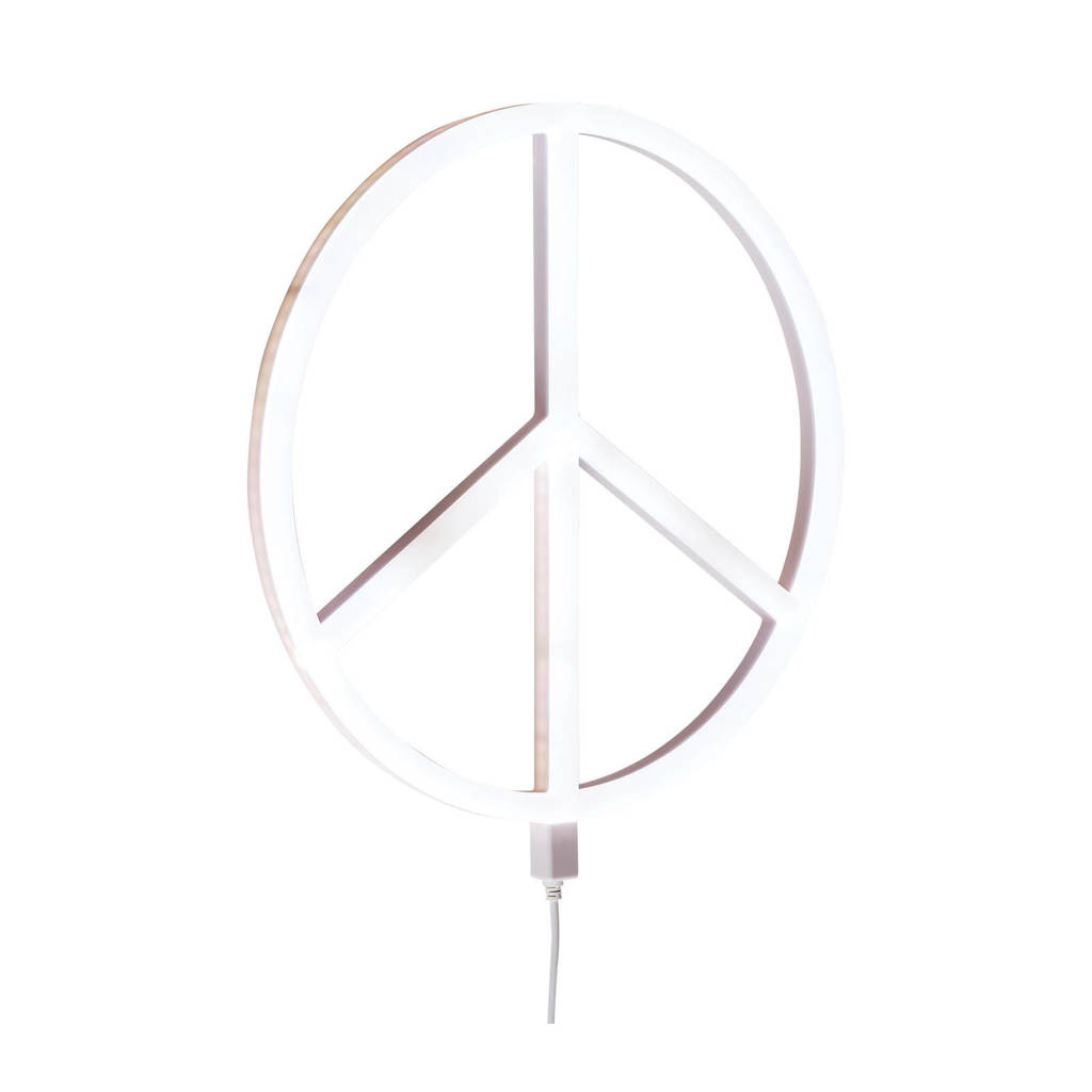A Little Lovely Company wandlamp Peace, Wit