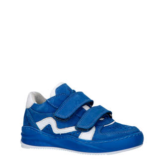 sports shoes deea5 5b7bb leren sneakers blauw