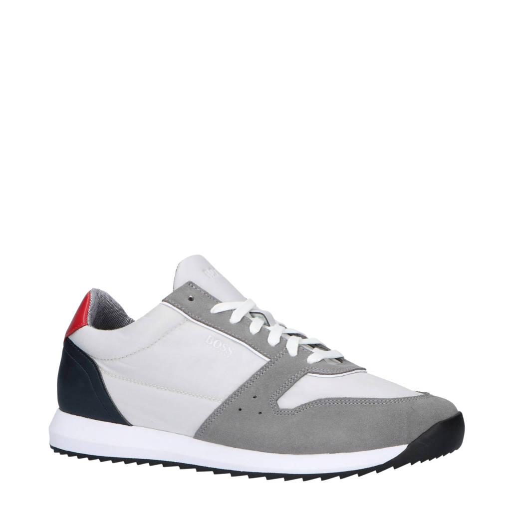 Boss  sneakers grijs, Grijs/rood/blauw