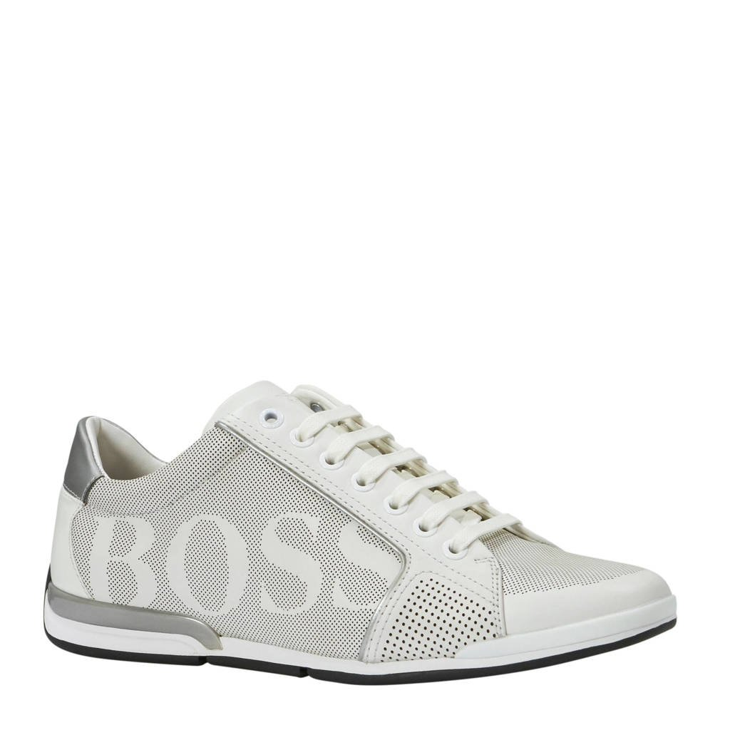 Boss  leren sneakers wit, Wit