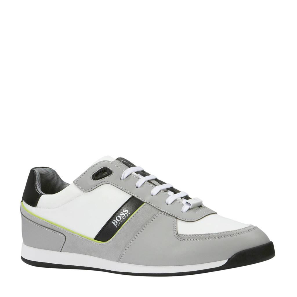 Boss Glaze sneakers grijs/wit, Grijs/wit/zwart