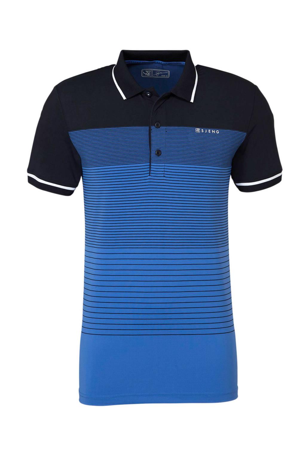 Sjeng Sports   polo, Donkerblauw/blauw