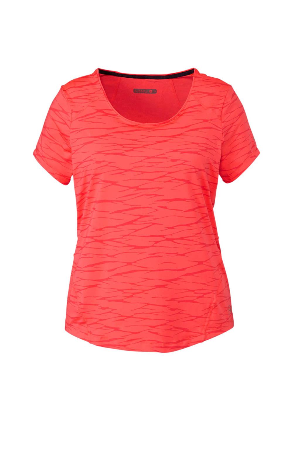 Sjeng Sports Plus T-shirt koraalrood, Koraalrood/roze