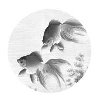 KEK Amsterdam behangcirkel Goldfish (Ø190 cm), Grijs