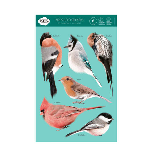 KEK Amsterdam Birds Set Muursticker Set van 5