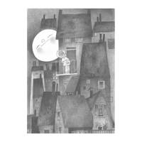 KEK Amsterdam fotobehang Fiep Westendorp maanlicht  (243,5x280 cm), Grijs