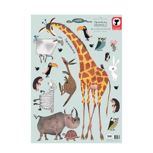 KEK Amsterdam muursticker dieren (42x59 cm) kopen