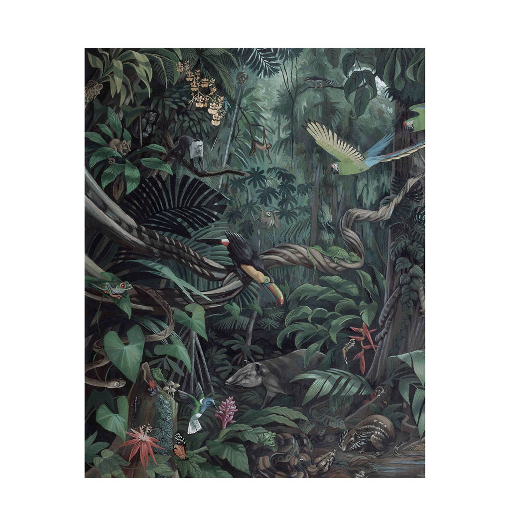 KEK Amsterdam behangpaneel Tropical Landscape (142,5x180 cm), Multi