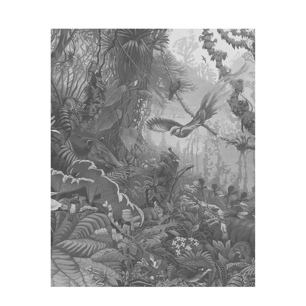 KEK Amsterdam behangpaneel Tropical Landscape (142,5x180 cm), Grijs