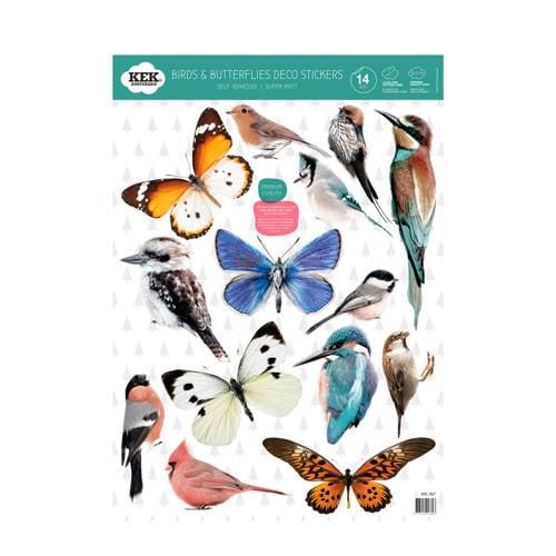 KEK Amsterdam muursticker vogels & vlinders (set) (42x59 cm) kopen