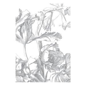 fotobehang Engraved Flowers (194,8x280 cm)