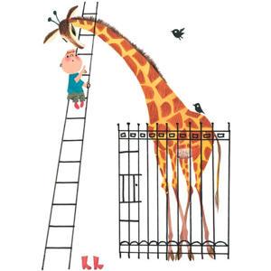 poster Fiep Westendorp giraffe (42x59,4 cm)