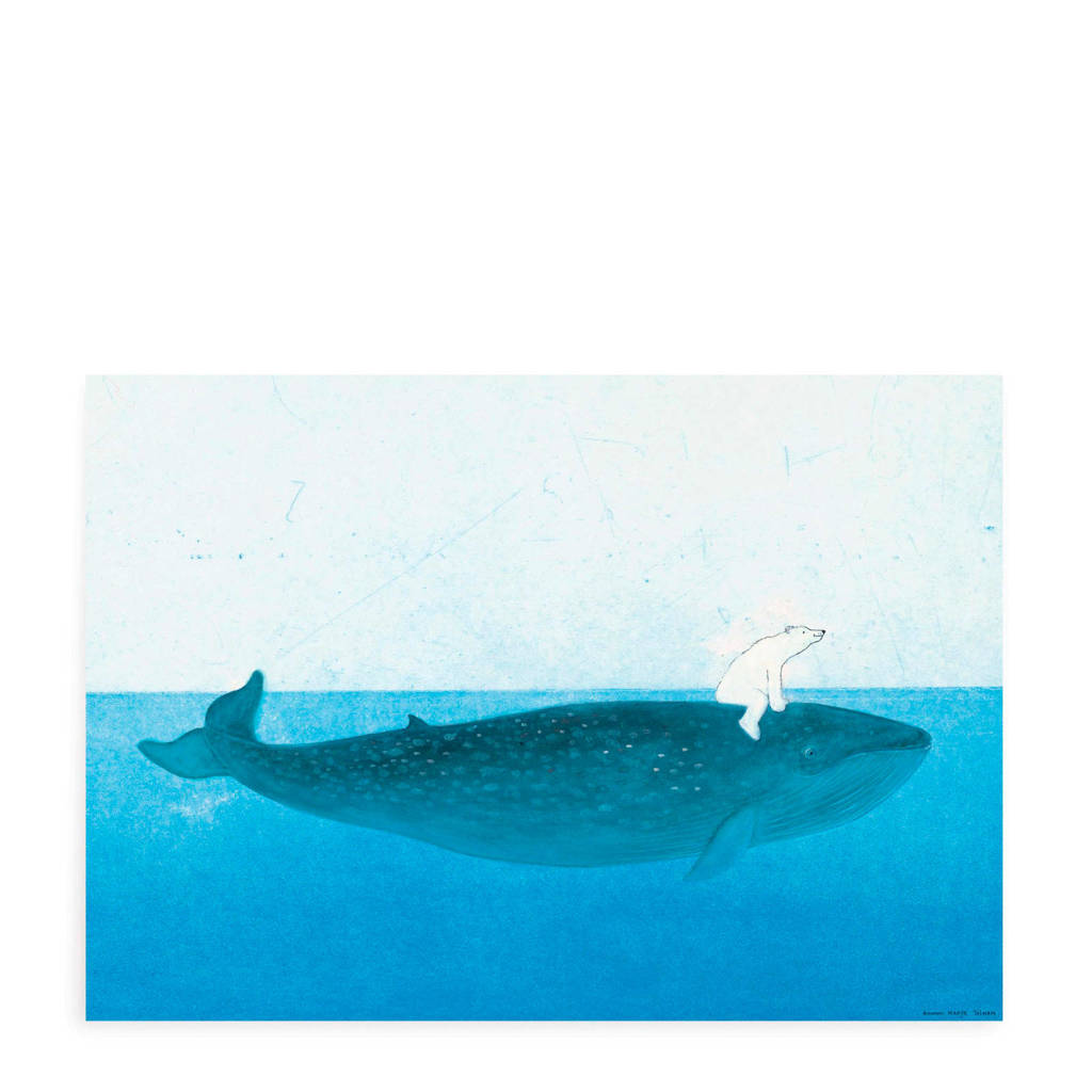 KEK Amsterdam poster walvis (42x59,4 cm), Blauw