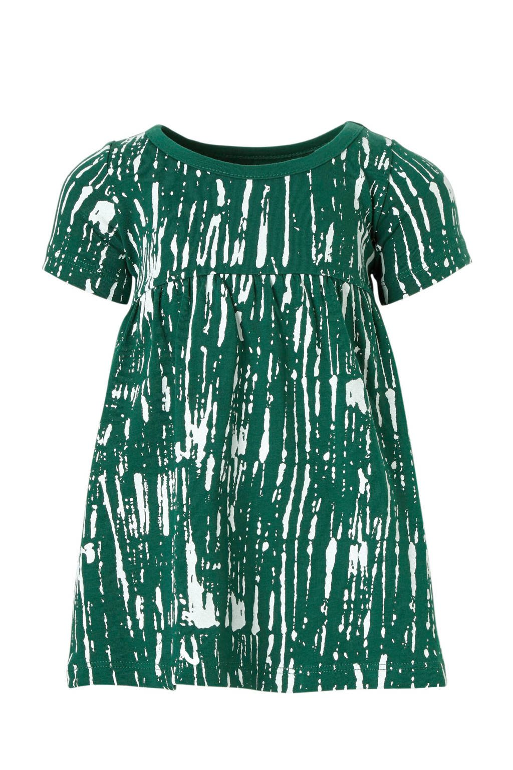 Little Indians baby jurk met all over print groen, Groen/wit