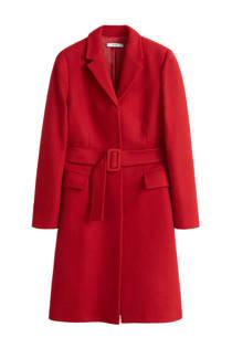 Mango coat met wol rood (dames)