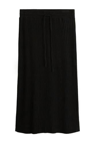 rok met aansnoerkoord zwart