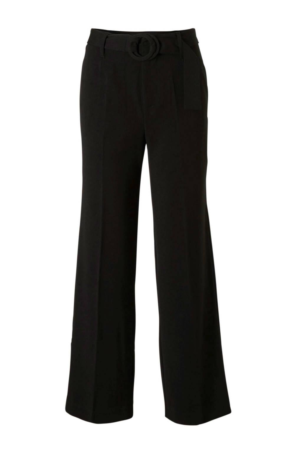 Mango high waist pantalon pantalon zwart, Zwart