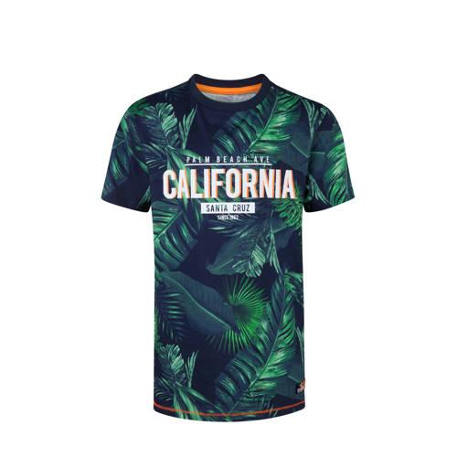 WE Fashion T-shirt met alloverprint groen kopen
