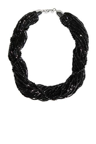 gevlochten ketting zwart