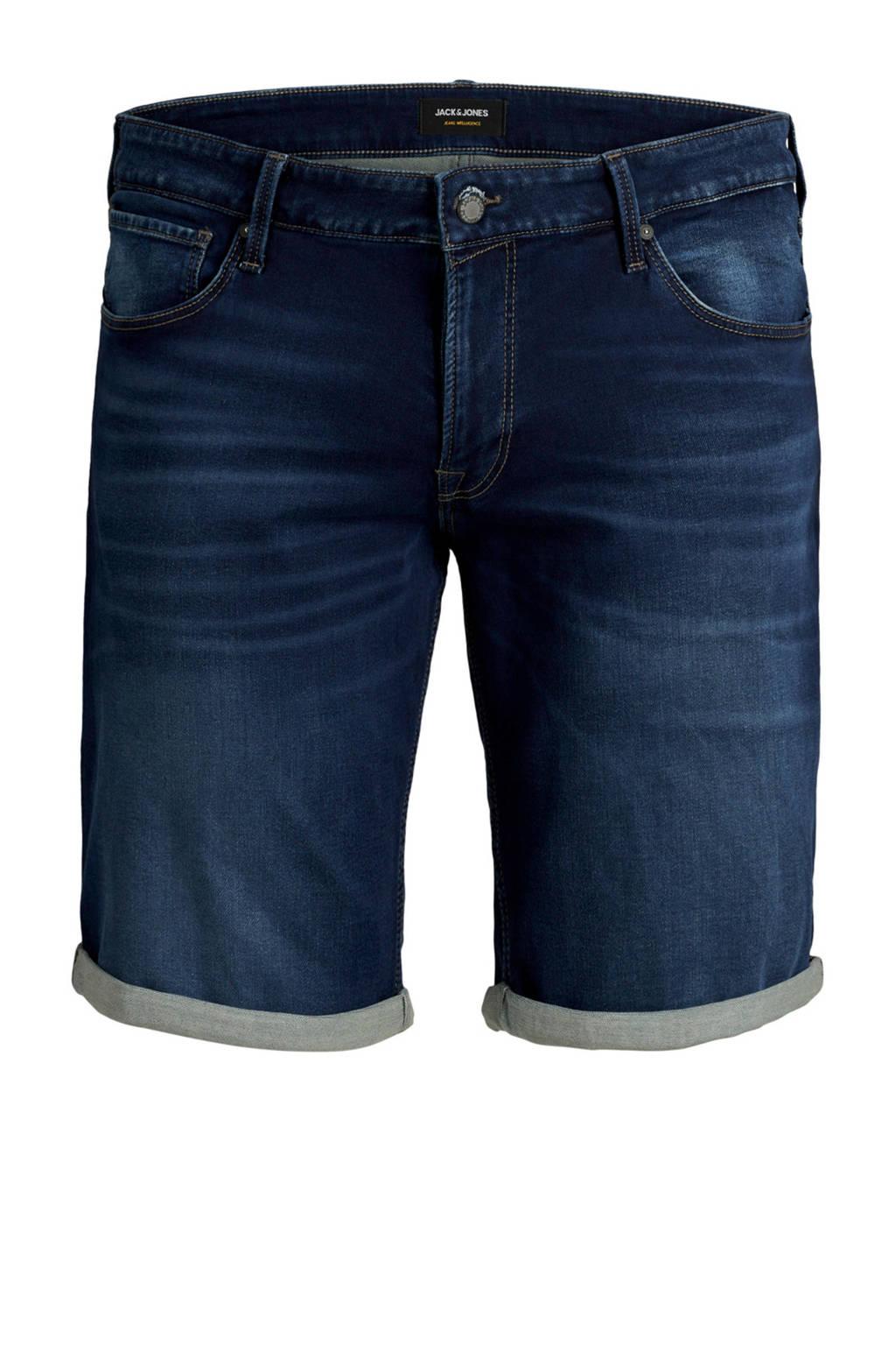 JACK & JONES PLUS SIZE regular fit jeans short, Dark denim