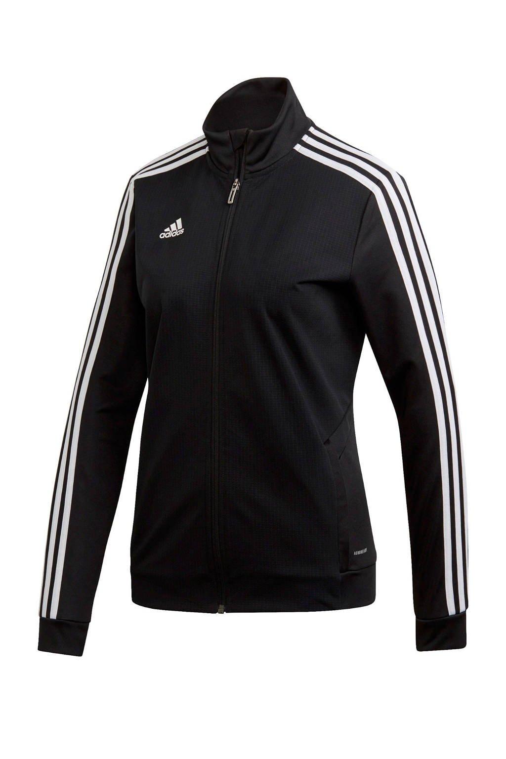 adidas Performance sportvest Tiro 19 zwart, Zwart/wit