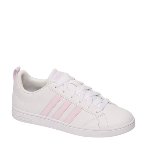 adidas originals VS Advantage sneakers wit-roze