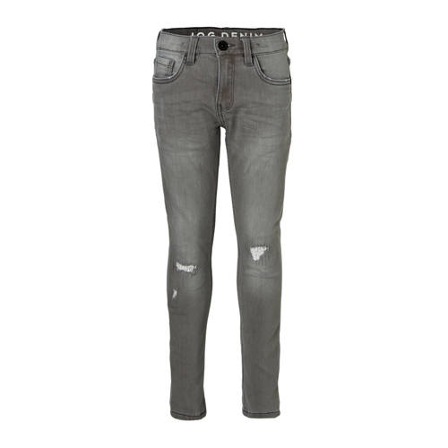 slim fit jog denim grijs