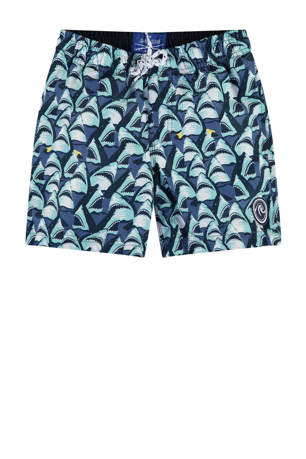 a4fa1d7c57549e WE Fashion zwemshort met all over haaienprint blauw, Medieval Blue