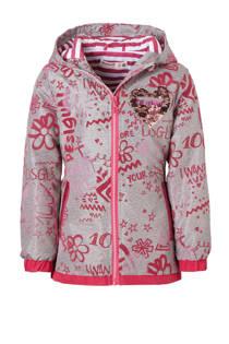 Desigual tussenjas met tekstprint grijs/roze (meisjes)