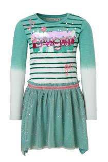 Desigual jurk met pailletten tule rok groen