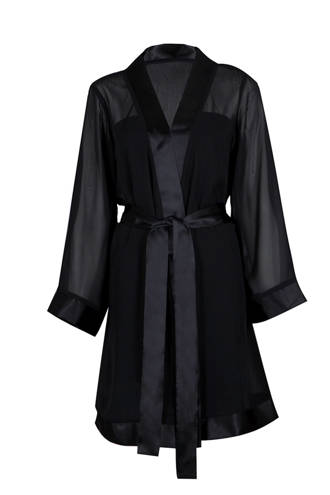 kimono Chiffon zwart