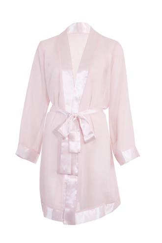 kimono Chiffon lichtroze