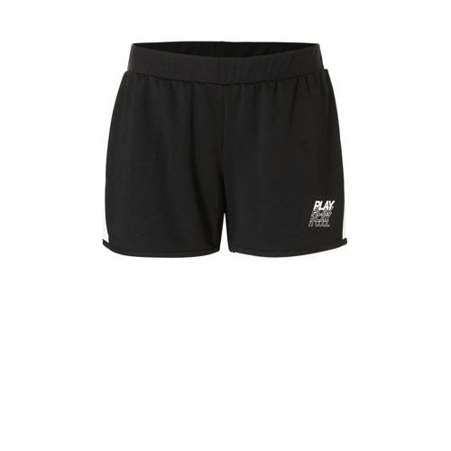 Only Play Curvy sportshort zwart-wit