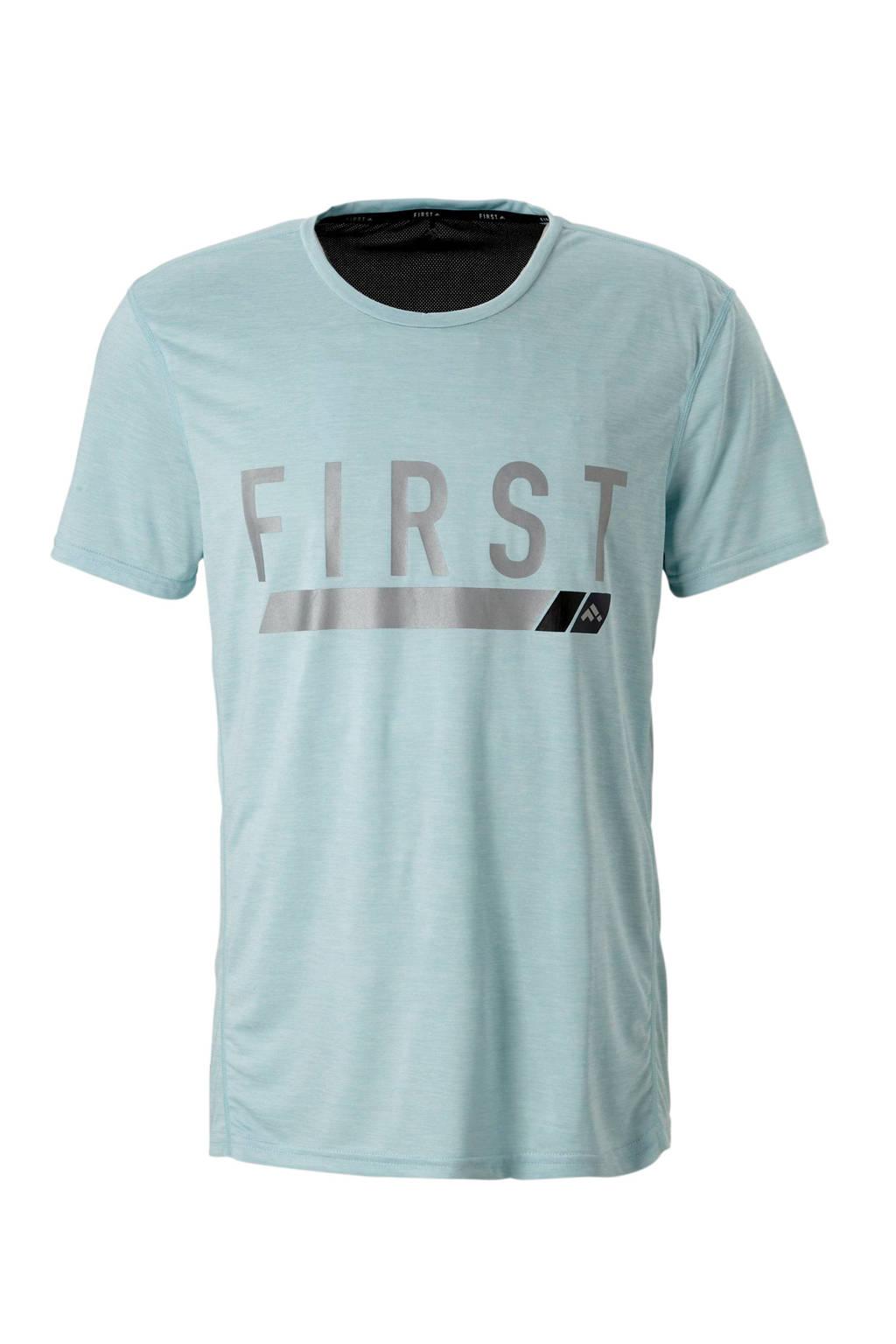 FIRST   sport T-shirt lichtblauw, Lichtblauw