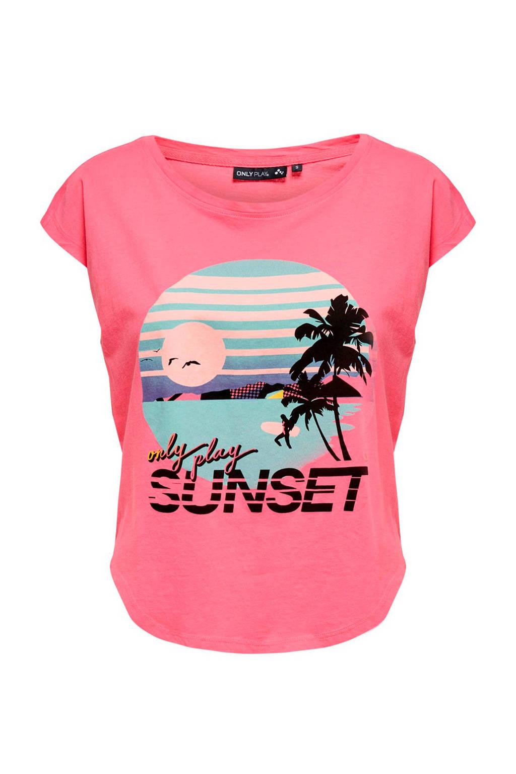 Only Play sport T-shirt roze, Roze