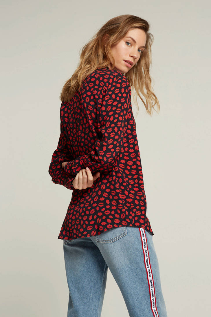 all print over blouse rood Catwalk met Junkie q6w8ApFp