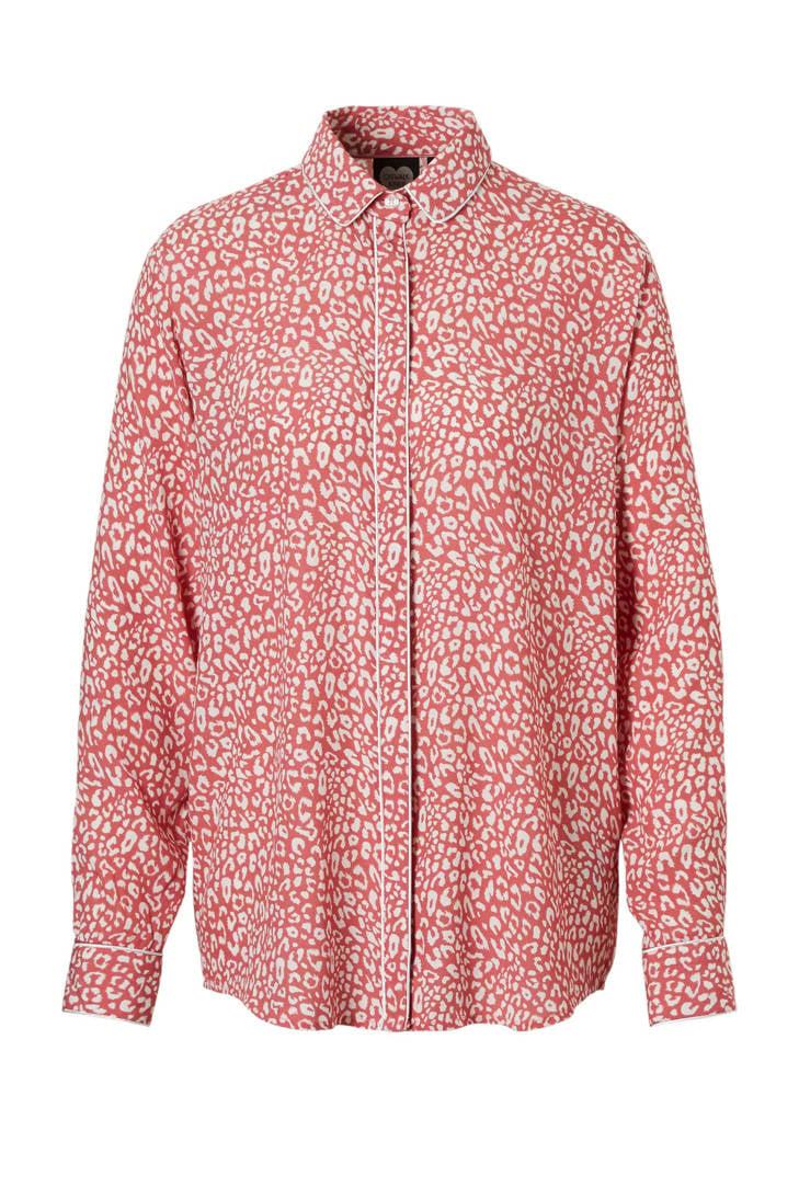 Junkie blouse rood Catwalk panterprint met ASUWSRq