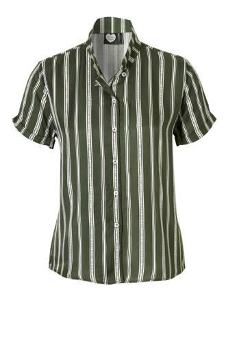 gestreepte blouse groen