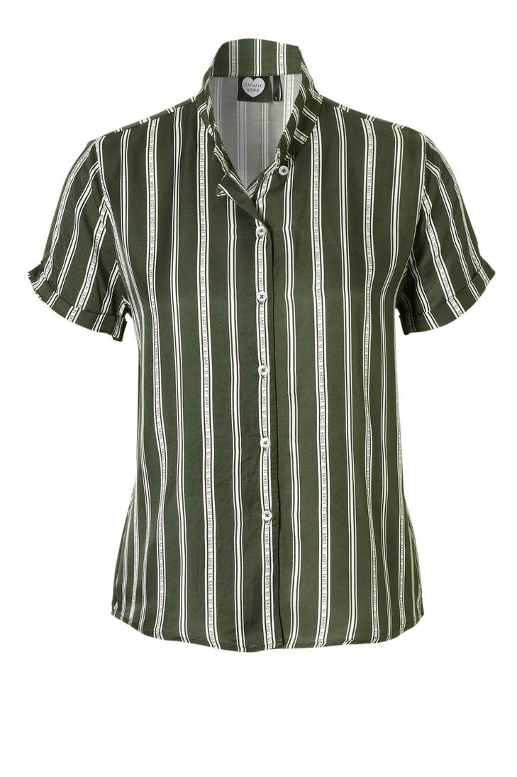 Catwalk blouse Junkie gestreepte groen Junkie Catwalk gestreepte PwfqxXrP
