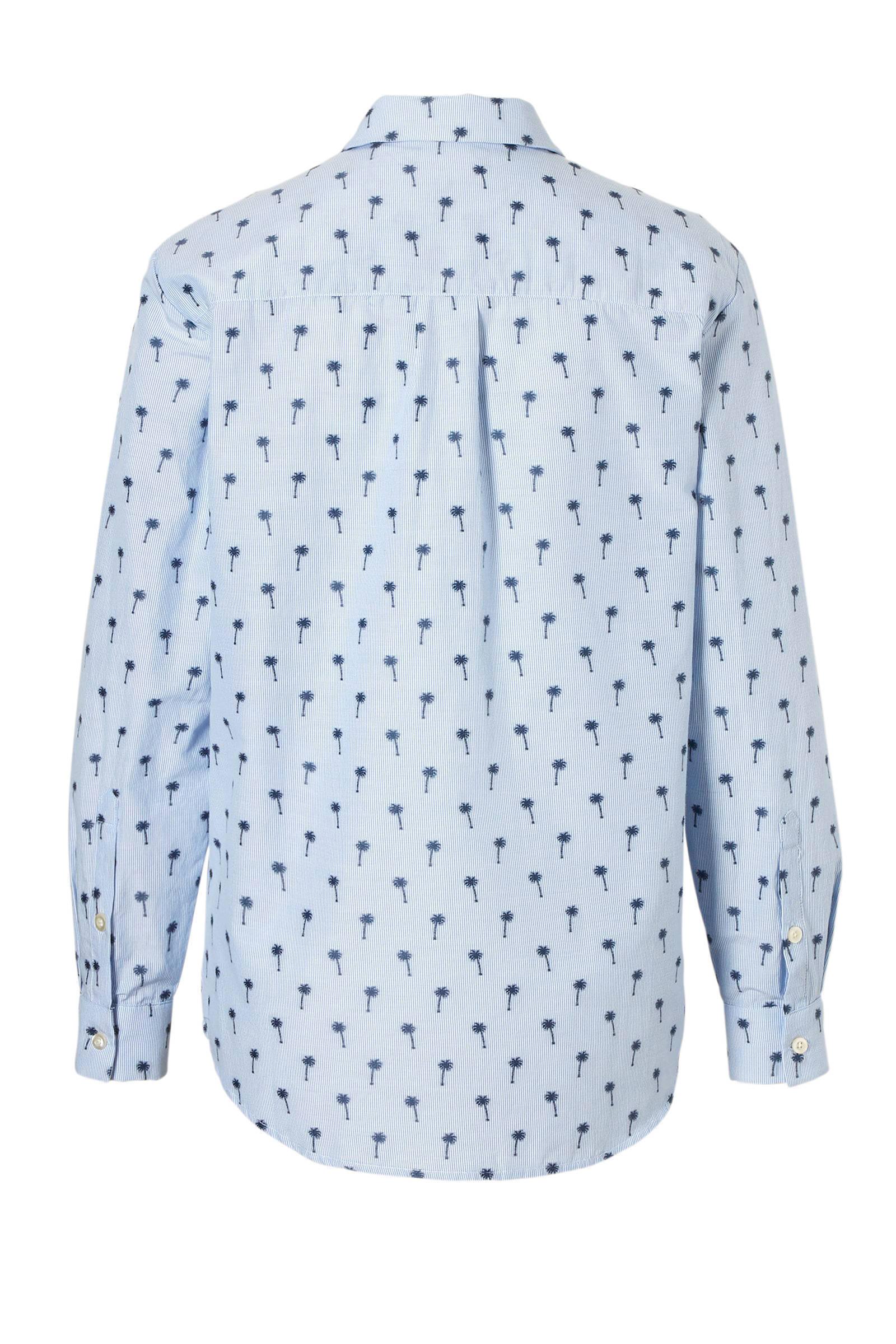 met Junkie Catwalk blouse blauw palmbomen wEYfq