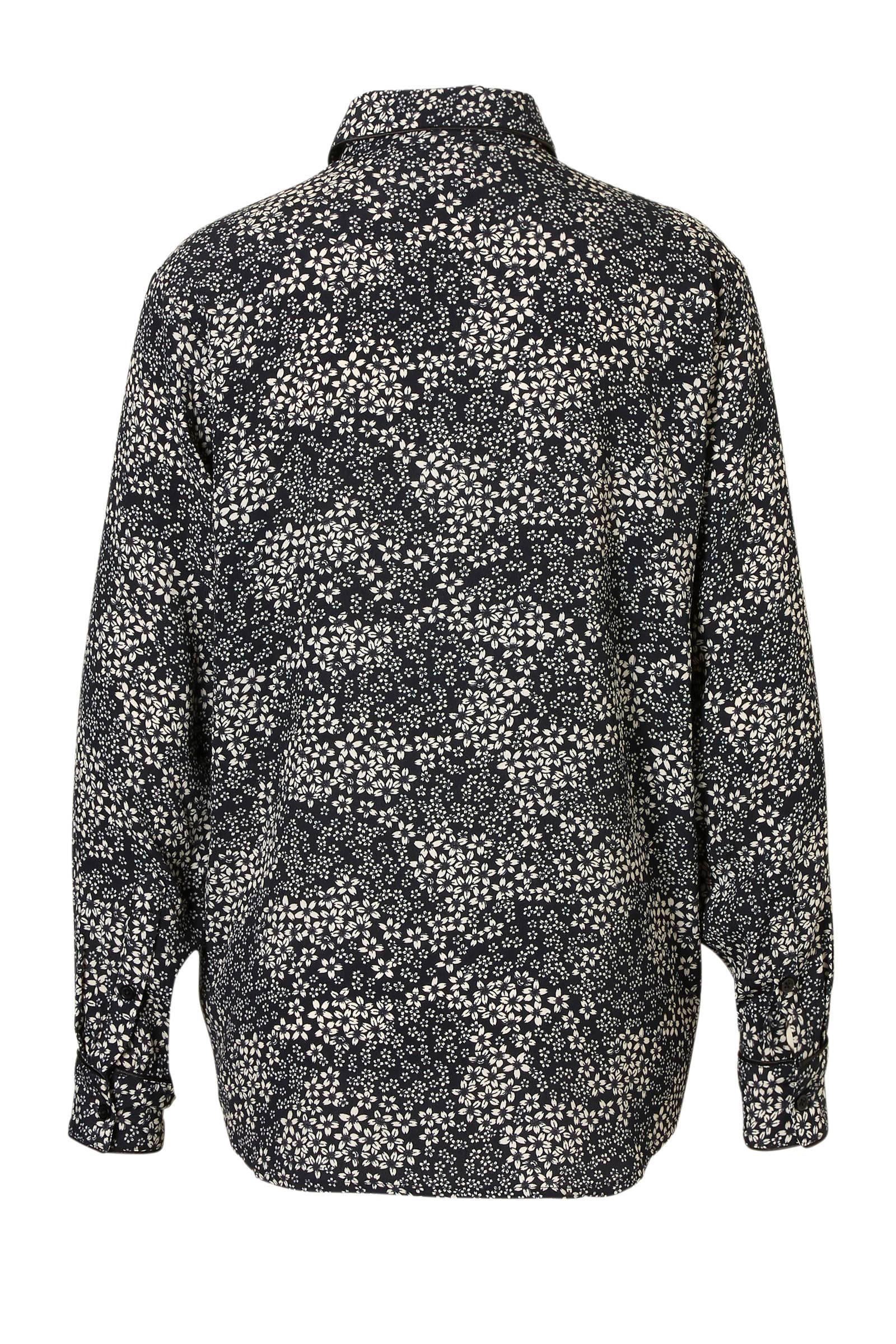 blouse zwart gebloemde Junkie Catwalk gebloemde Catwalk Junkie Fqwpa4F