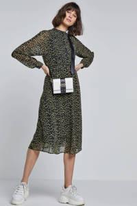 Catwalk Junkie jurk met luipaardprint, Zwart/geel