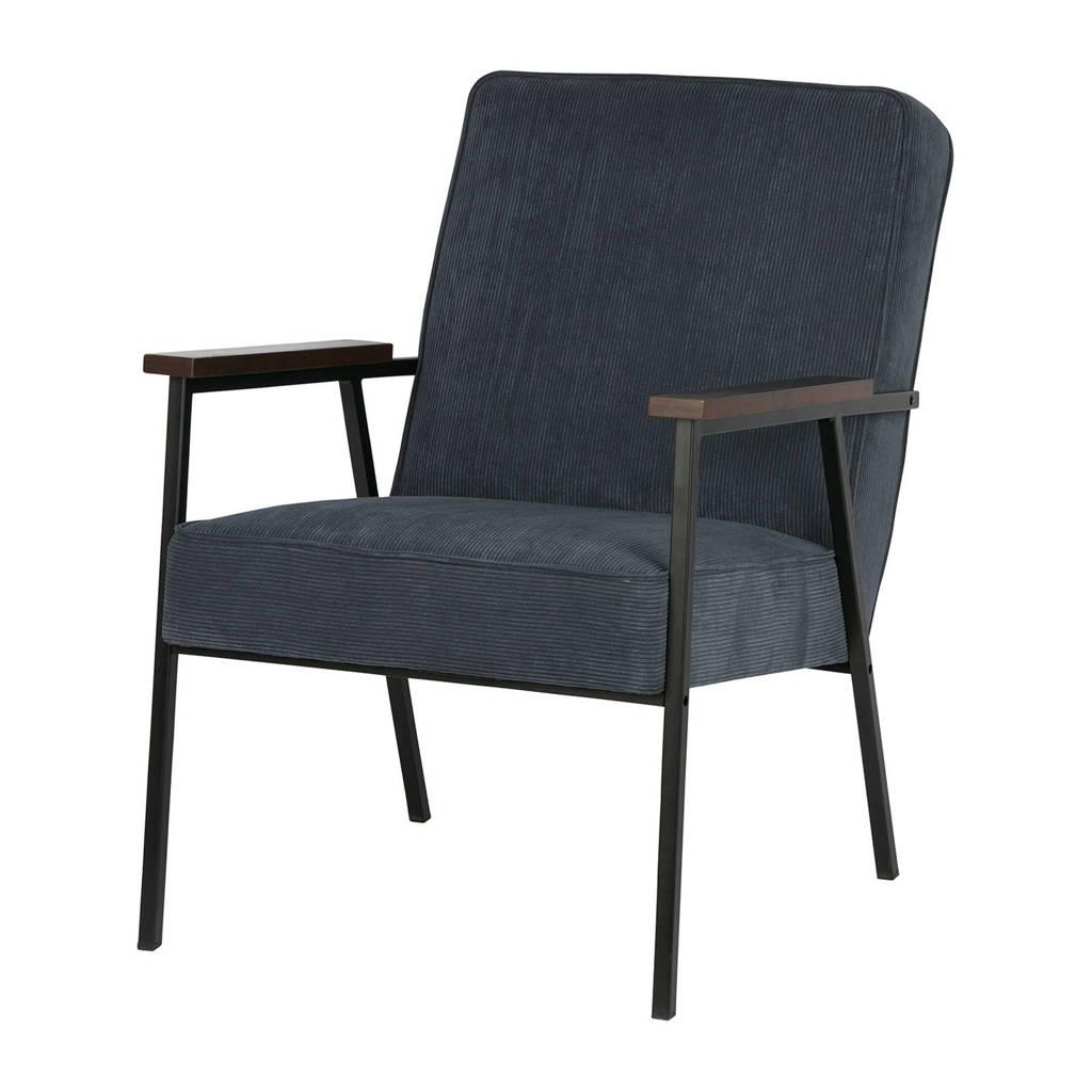 Woood fauteuil Sally, Staalblauw