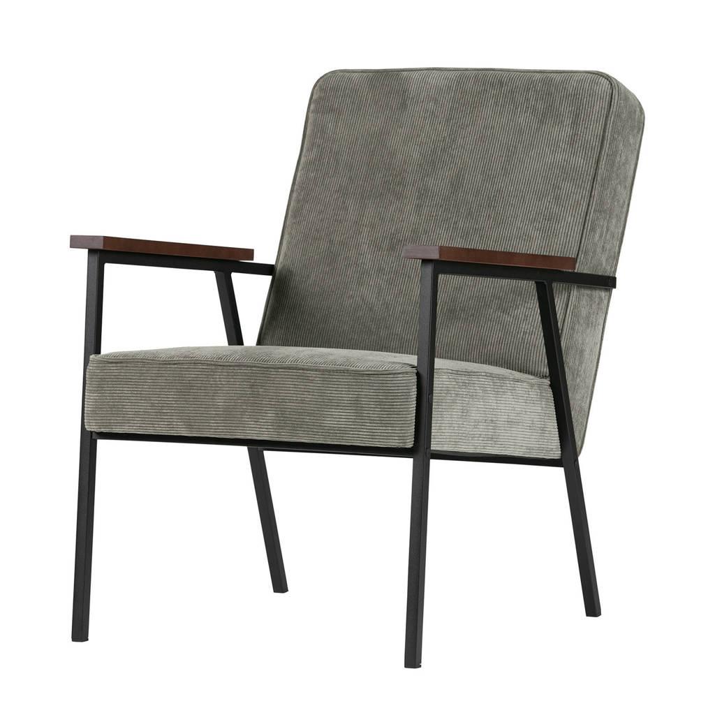 Woood fauteuil Sally, Vergrijsd groen