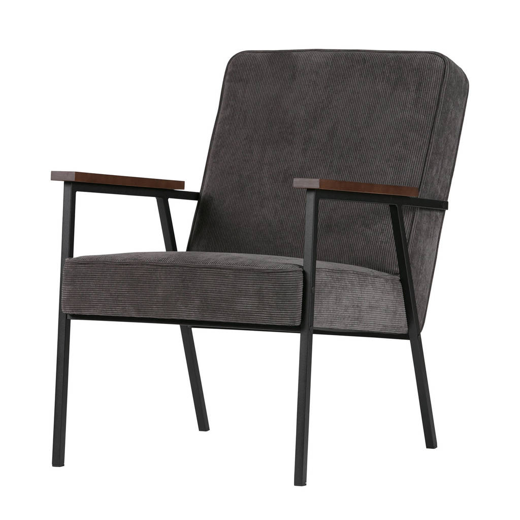 Woood fauteuil Sally, Antraciet